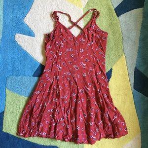 American Eagle size 8 red mini dress